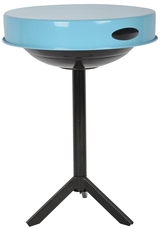 Esschert Design 3in1 Grill und Tisch, 47 x 47 x 63 cm, mit Tablett, in schwarz und blau