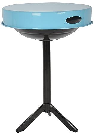 Esschert Design Mesa para Barbacoa Acero Carbono Azul FF251 46,5 x 46,5