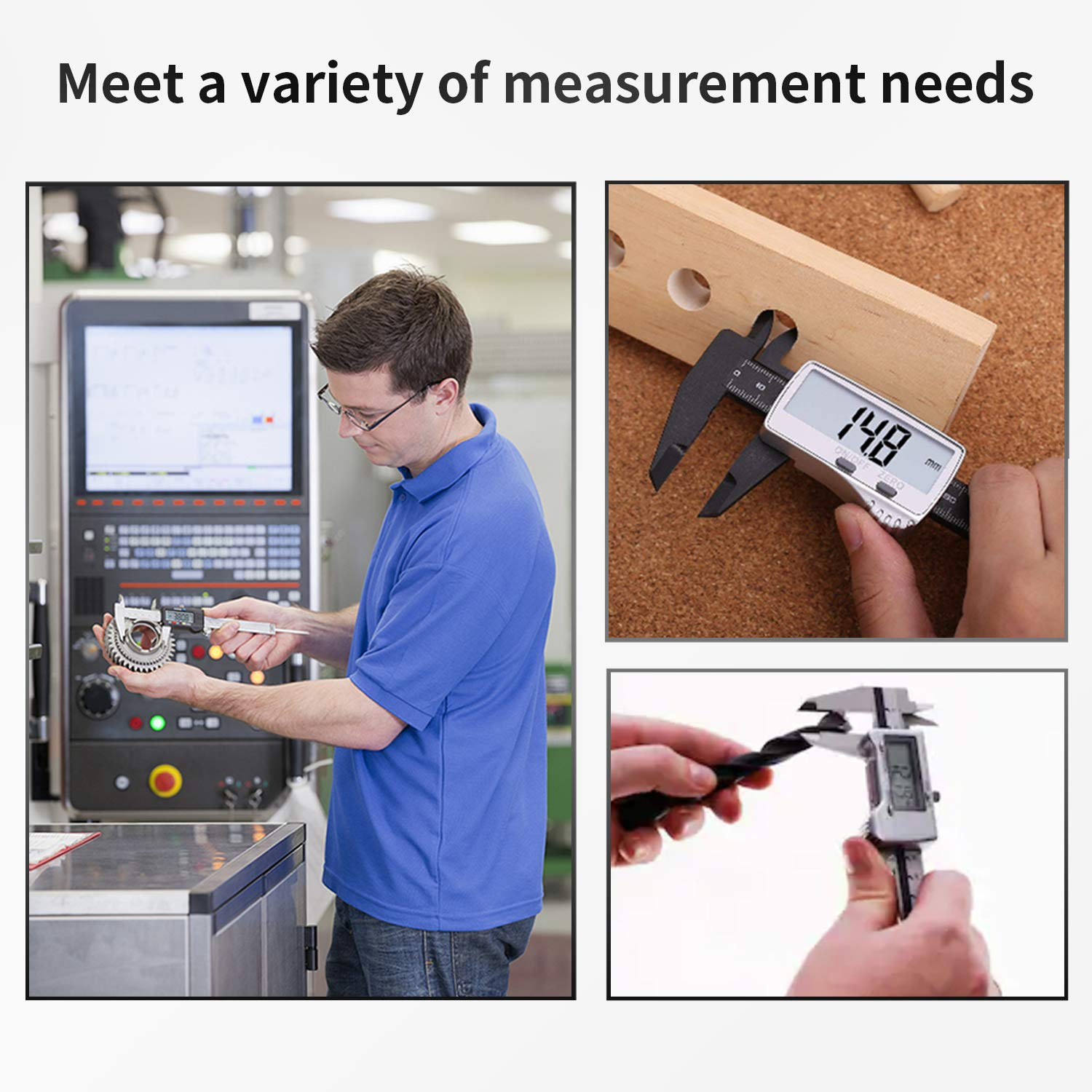 Gocheer Digital Caliper, Vernier Caliper Gauge LCD Screen, 150mm 0-6\