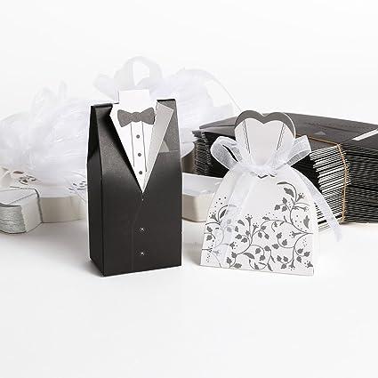 Carte Bomboniera 50pz. di Sposo + 50pz. di Sposa Per Confetti Matrimonio +  Nastro  Amazon.it  Casa e cucina 7f95d403479
