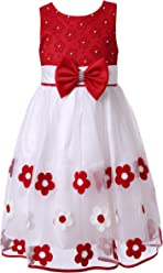 Richie House Girls Red Bridal Party Dress Size 3-8Y RH2458