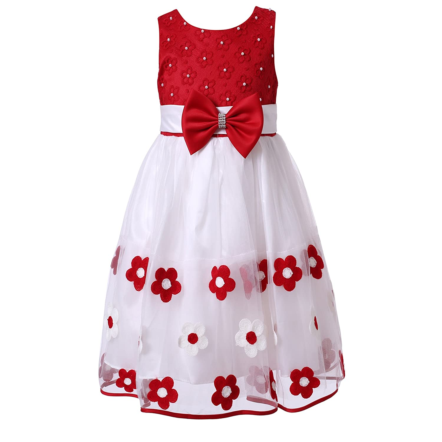 4a2b32dc682d Amazon.com  Richie House Little Girls  Sweet Dress with Embroidery ...