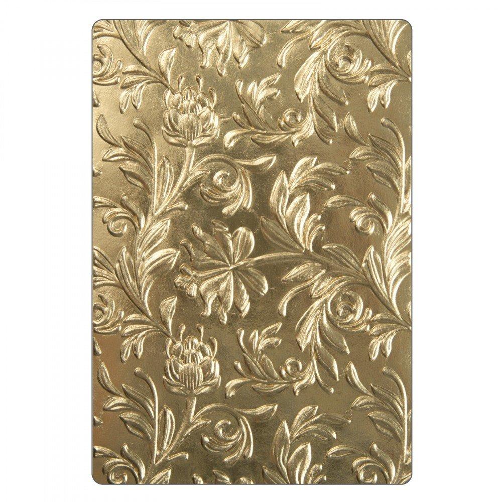 Sizzix 662716 3-D Texture Fades Embossing Folder, Gold Ellison