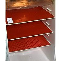 طقم سجاد لادراج الثلاجة متعدد الاغراض من كوبر اندستريز، 6 قطع، احمر، 13 × 19 انش، Vafr509