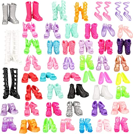 New Barbie outfit clothes shoes boots footwear 5 random picked pairs of shoes