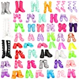 Barwa 50 Shoes Randomly Style for 11.5 Inch 28 - 30 cm Dolls Include Boots, High Heels, Dance Shoes, Slippers and Other…