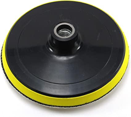 """6/"""" Polishing Backing Pad with Soft Bonnet 5//8/""""-11 Hook and Loop"""