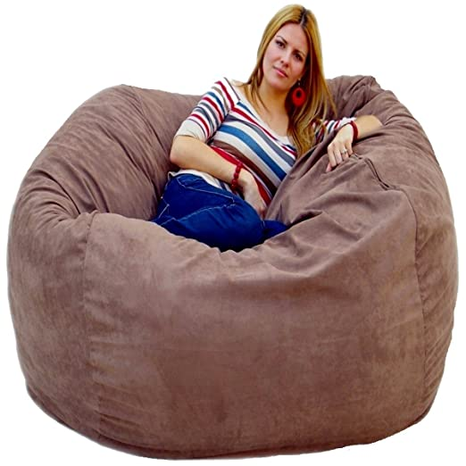 Amazon.com: Cozy Sack 5 Feet Bean Bag Chair, Large, Earth: Kitchen U0026 Dining