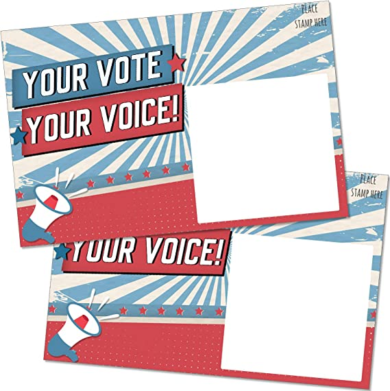 Postcards to Voters Hang on to this Note to remind you to Vote  Voting Reminder Postcard