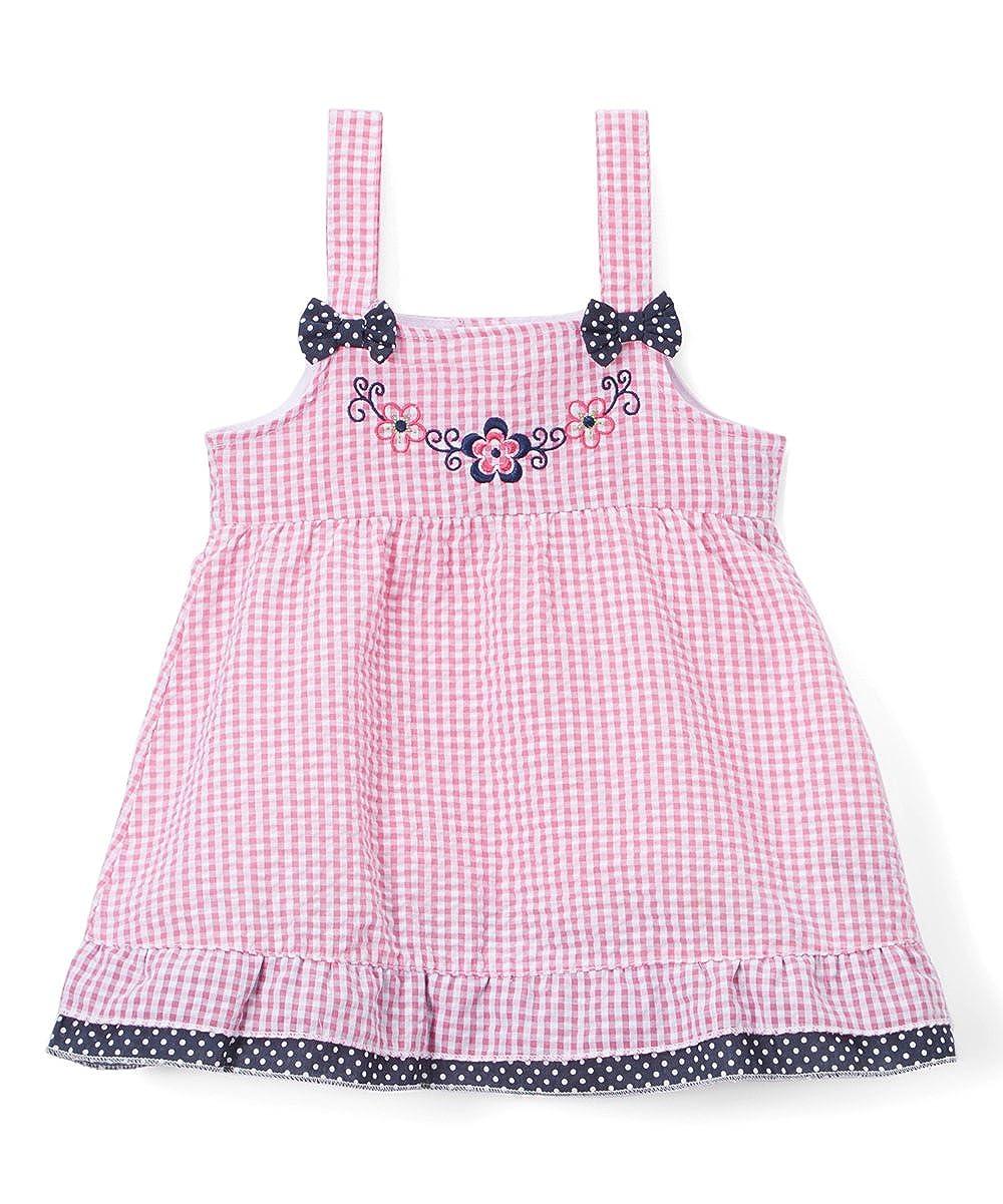 Sweet &ソフトparis-pink &ネイビー花柄Seersuckerドレス – 幼児2   B06Y12W3F9