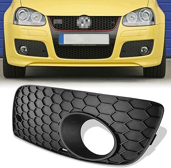 KJ-KUIJHFF Honeycomb Hex Mesh Fog Light Open Vent Grilles For V~olkswagen for V~W for Jetta MK5 for G~TI GLI 2006-2009 Car Accesorios