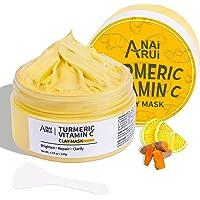 ANAIRUI Turmeric Vitamin C Clay Mask for Acne and Dark Spots, Vitamin C & E Clay Facial Mask for Blackheads, Pores…