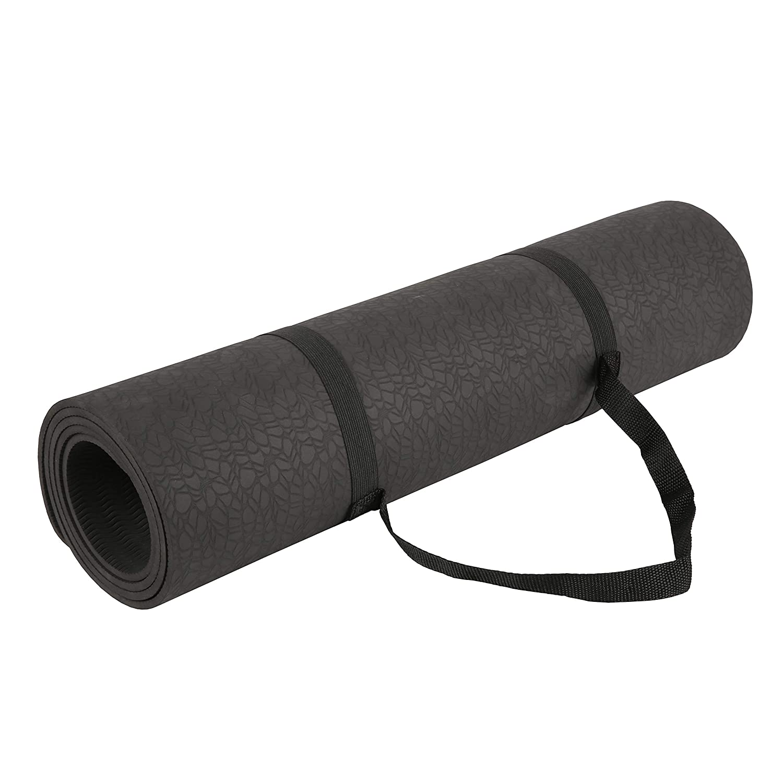Exerz Colchonetas de Yoga/Tapete De Yoga Gimnasia con Una Correa De Transporte - 183x61 CM/ 6 MM - Alta Densidad/Antideslizante/Pilates/Peso ...