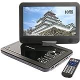 DBPOWER ポータブルDVDプレーヤー 10インチ MK-101 ブラック CPRM対応 リージョンフリー SD/MS/MMCカード/USBに対応