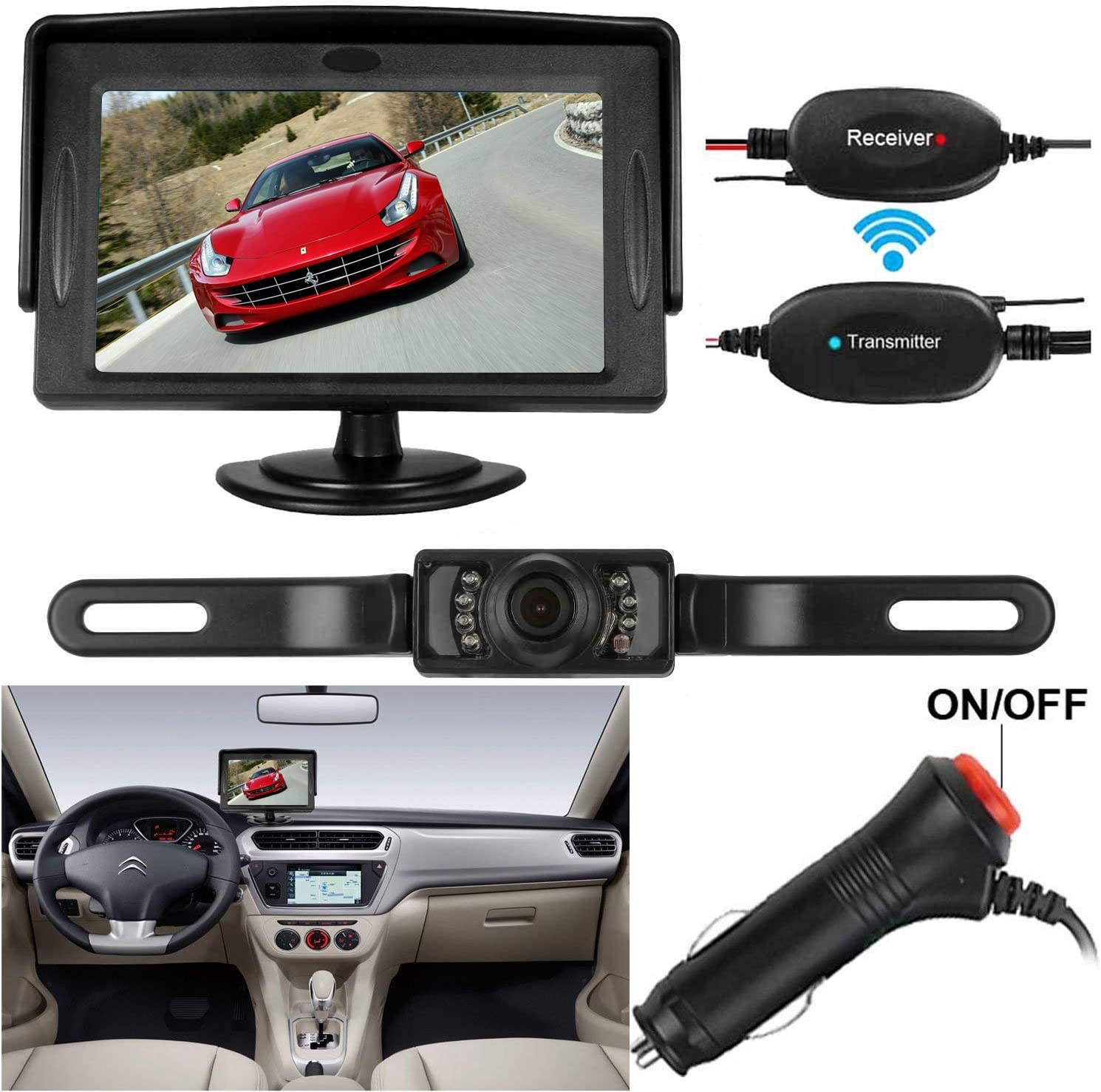 Wireless Car Backup Camera High Definition Color Wide Viewing ...