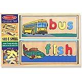 See & Spell Wooden Play Set + FREE Melissa & Doug Scratch Art Mini-Pad Bundle [29407]