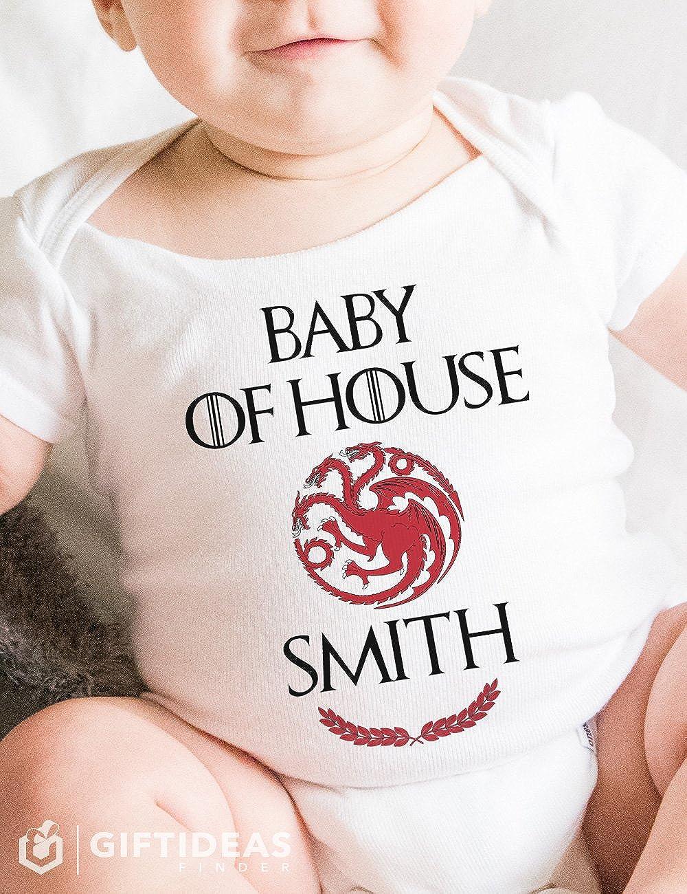 Amazon.com: Juego de Tronos pijama para bebé apellido ...