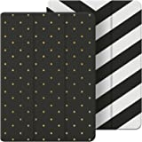 Belkin 2-in-1 Reversible Folio Case with Multiple Viewing Angles for iPad Air 2, Chevron and Dotted Designs - Black/White/Gold