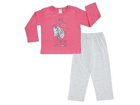 Jacky niña Pijama dos piezas, Classic Girls, blanco-rosa, 86/92
