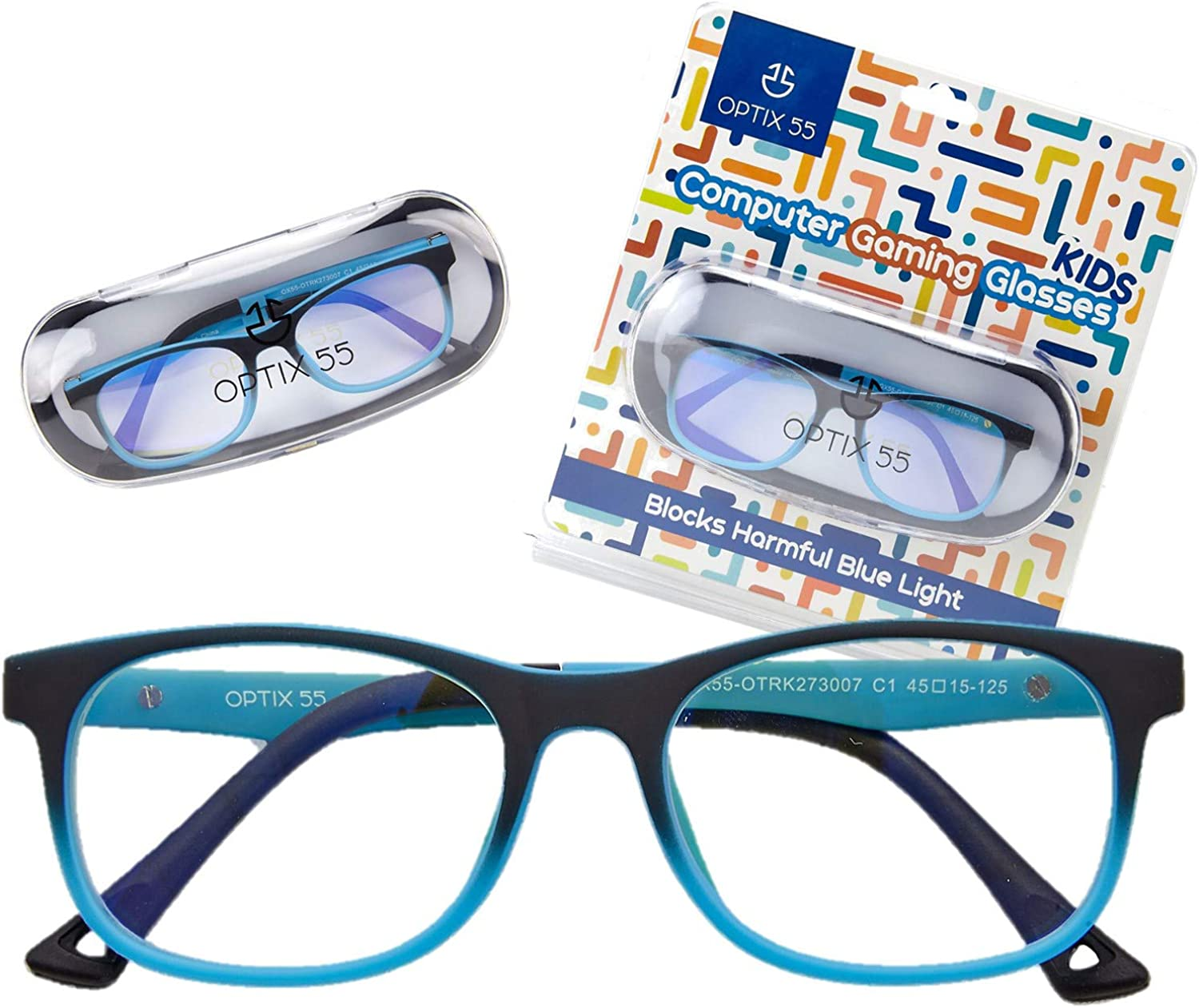 Amazon.com: Kids Blue Light Blocking Glasses - Anti Eyestrain - Computer  Video Gaming Eyeglasses for Boys & Girls - Bendable & Unbreakable Flexible  Blue Square Frame Eye Glasses (Blue): Shoes