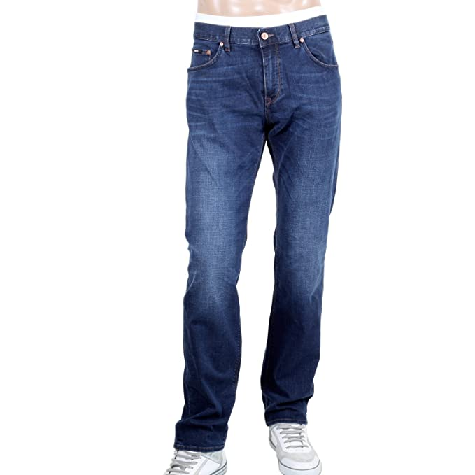 Regular Fit Stretch Denim Hugo Boss Maine 1 Blue jeans BOSS4572:  Amazon.co.uk: Clothing