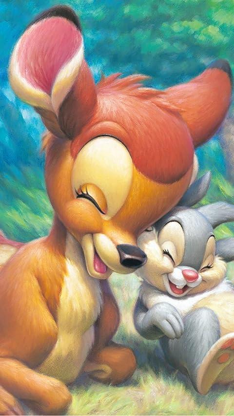 ディズニー バンビ&とんすけ XFVGA(480×854)壁紙 画像61196 スマポ