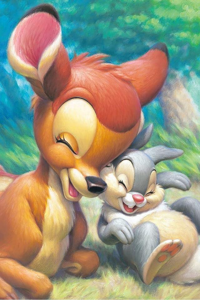 ディズニー バンビ&とんすけ iPhone(640×960)壁紙 画像62723 スマポ