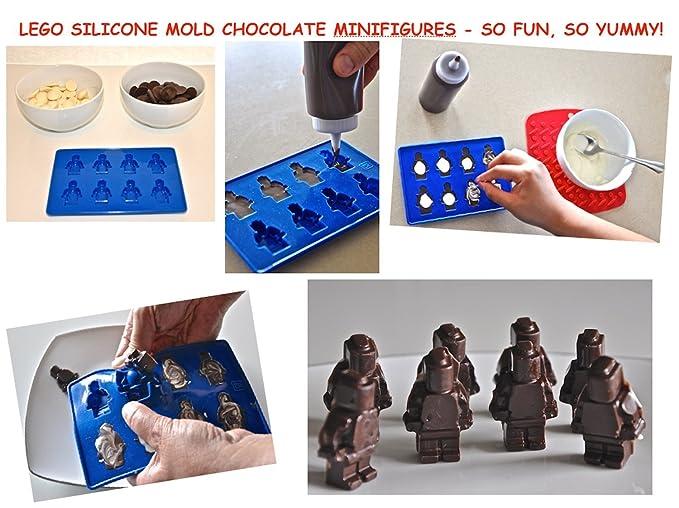 fb3e08dba1f9 G edifi ladrillos y figuras de silicona moldes para golosinas - Lego ...