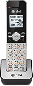 AT&T CL80103 Accessory Cordless Handset, Silver/Black | Requires a VTech CL82203 or Other Models to Operate