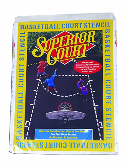 Amazoncom Goalsetter Basketball Court Stencil Kit Basketball