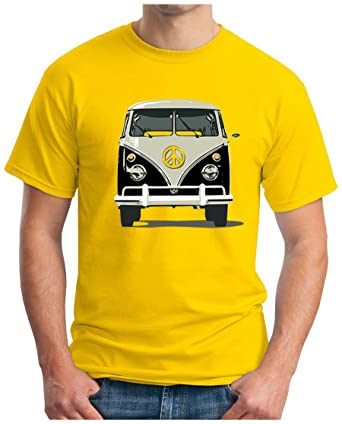 OM3™ - PEACE BUS GRAU - T-Shirt Classic Kult Bus T1 T2 Samba Hippie Flower  Power Mobil Music, S - 5XL: Amazon.de: Bekleidung