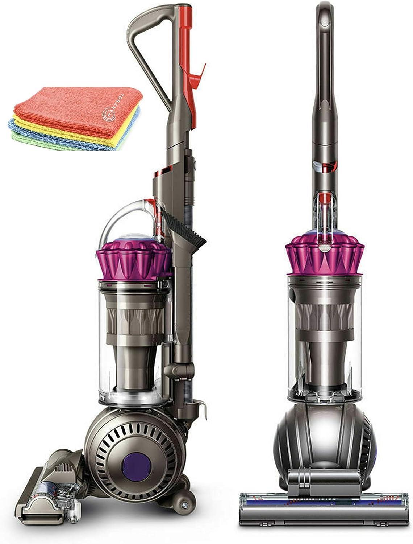 Flagship Dyson Ball MultiFloor Original Upright Vacuum:High Performance HEPA Filter, Bagless Rotating Brushes, Height Adjustment, Telescopic Handle, Self Propelled, Fuchsia + Marxsol Microfiber Cloth