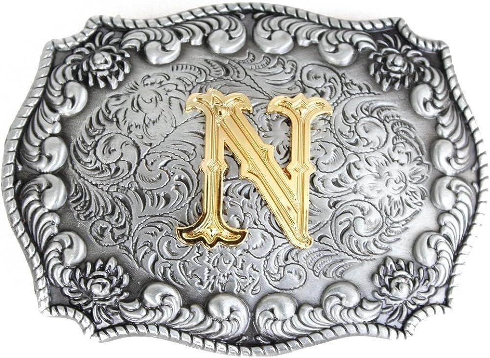 cow-boy style western Boucles de ceinture pour homme avec initiales 3D