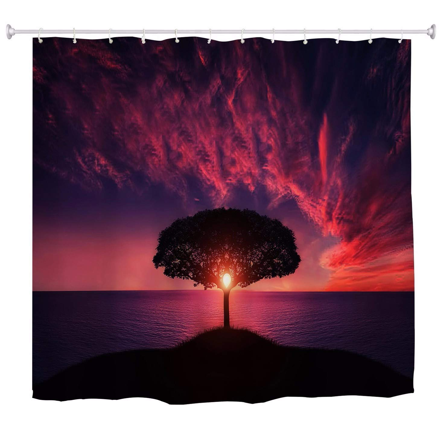60x72 A.Monamour Ancient Egypt Scene Gods and Pharaohs Religious History Hieroglyphic Egyptian Murals Art Print Waterproof Fabric Bath Curtain Shower Curtain with Hooks Rings 150x180 cm