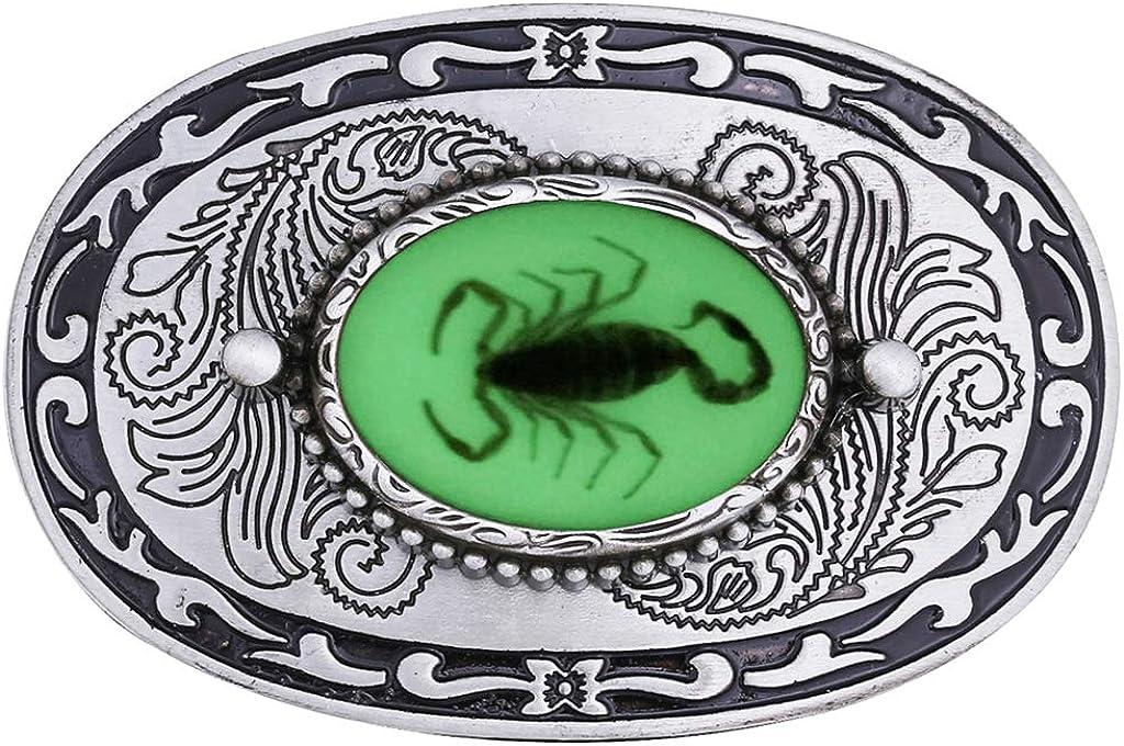 Hellery Metall Western Cowboy G/ürtelschnalle 3D Scorpion Belt Buckle Ersatz f/ür Wechselg/ürtel
