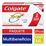 Colgate Pasta Dental Total Clean Mint Multibeneficios, 100 ml, 2 Piezas