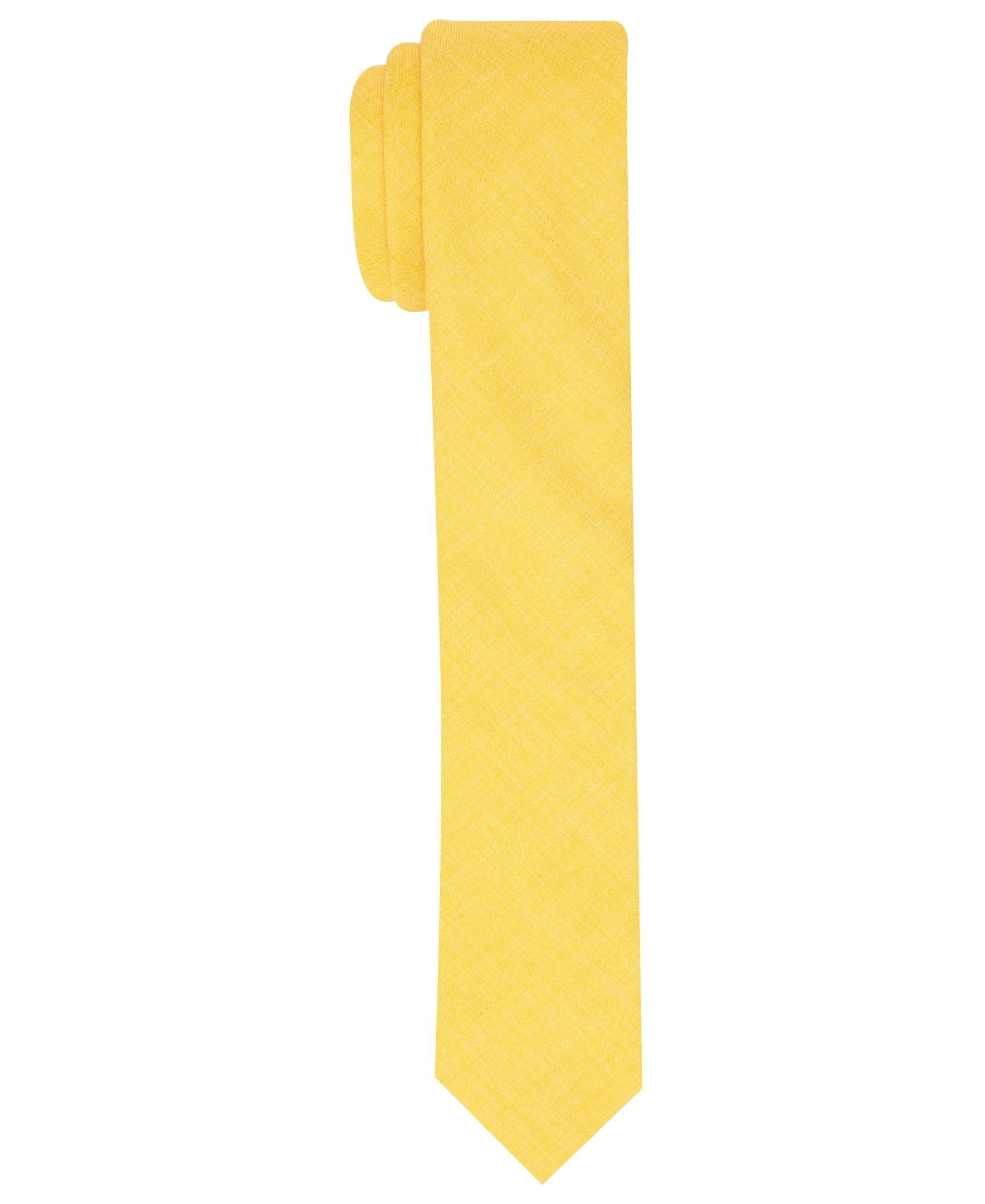Original Penguin Men's Pique Solid Tie, yellow, One Size