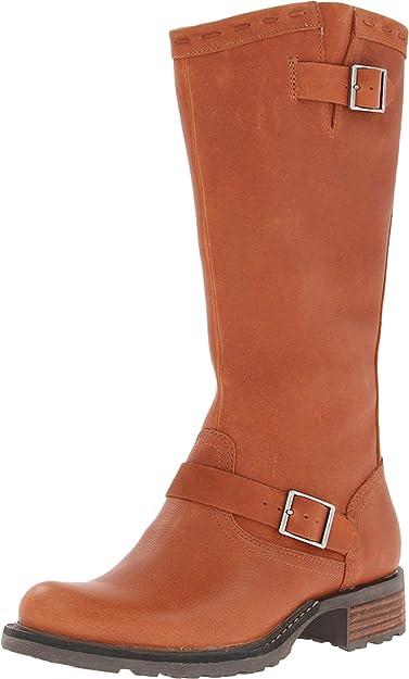 Sebago Women's Saranac Buckle High Boot,Cognac,10.5 ...