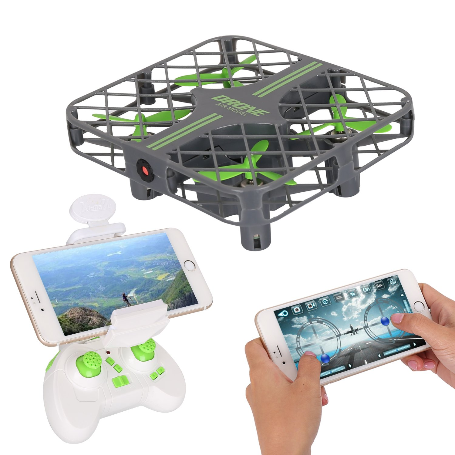 Portable Drone with Camera Live Video JT Drone Quadcopter RC Mini Drone with Led Light,One Key Return,Remote Control Drone for Kids
