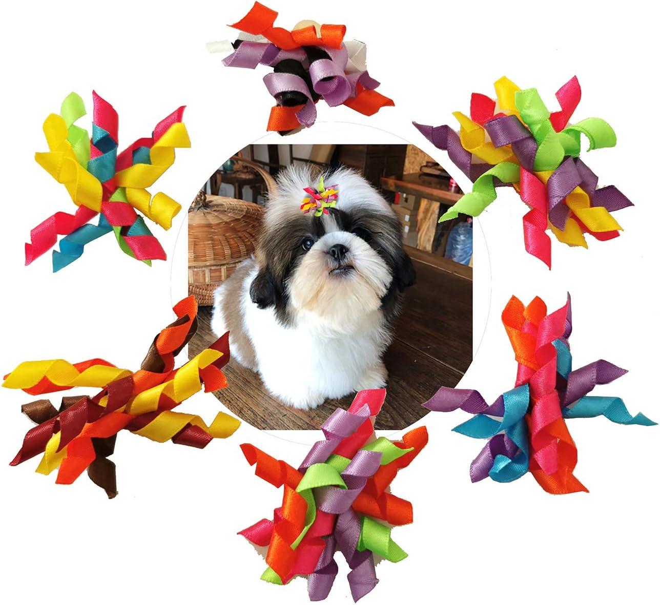 BIPY Collares para Perros pequeños y medianos, Accesorios de fijación, Lazos de Flores, Colgantes Decorativos para Mascotas, Gatos, Cachorros, Gatitos, Disfraces de Aseo, Paquete de 12 Pares