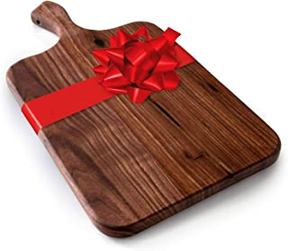 product image for Brazos Home Large Organic Wood Cutting Board Used for Serving, Chopping Fruit, Vegetables or Meat and as a Charcuterie Platter, Seasoned Dark Walnut, 16.5 x 8.5 x .75