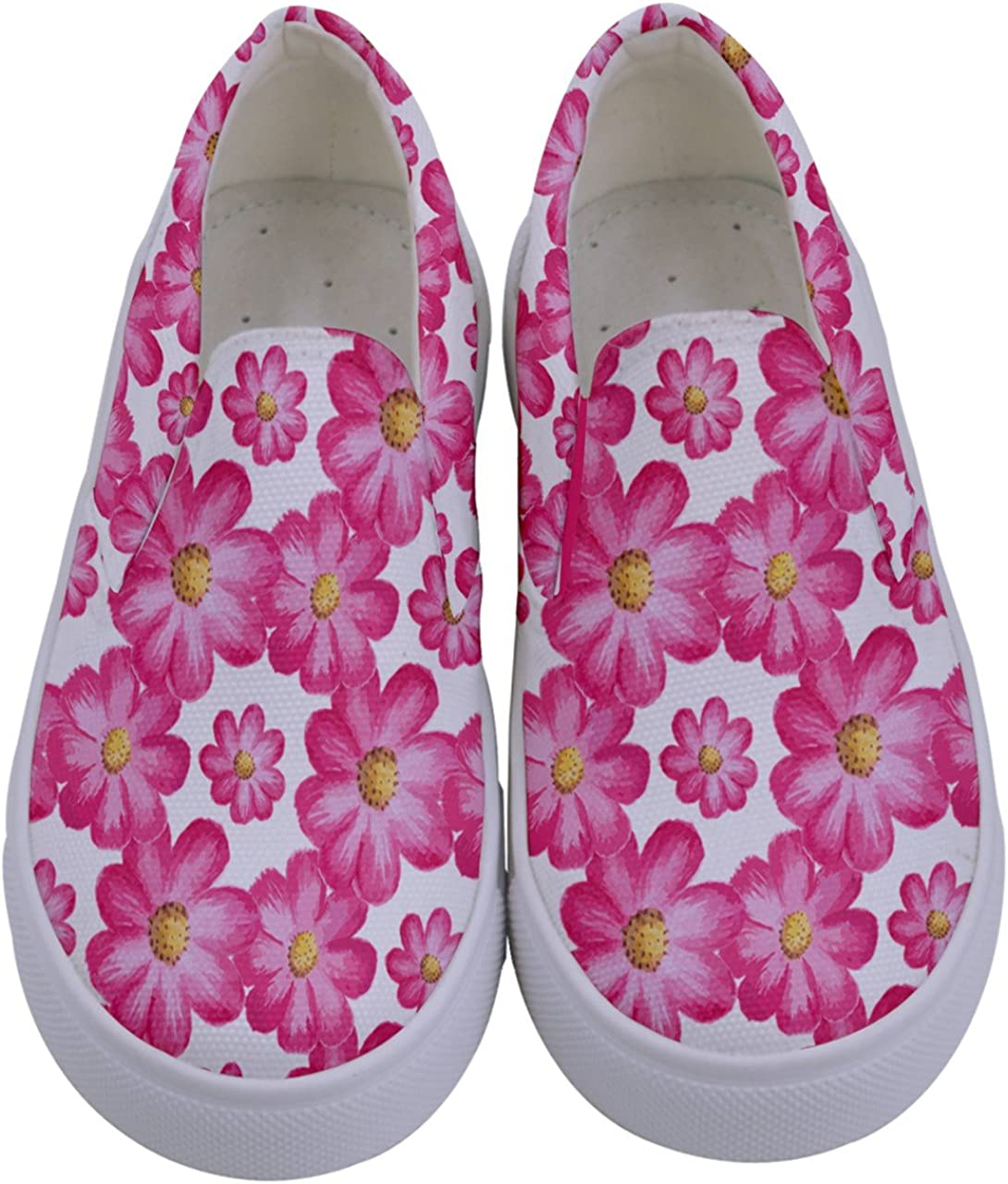 Size:US 8C-7Y PattyCandy Girls Animals /& Nature Kids Canvas Slip-On Shoes