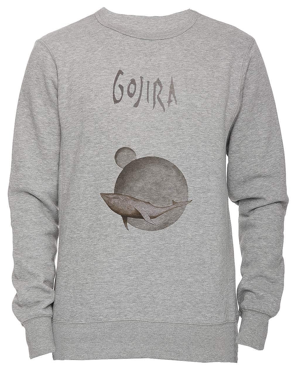 Gojira Whale - Gojira Unisex Uomo Donna Felpa Maglione Pullover Grigio Tutti Dimensioni Men's Women's Jumper Grey