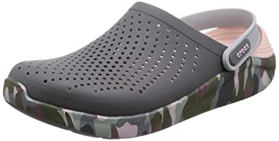 99de5052 crocs Unisex's LiteRide Graphic Clog Grey Clogs-M6W8 (205359-0EI ...