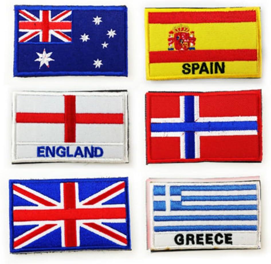 aquiver bandera nacional bandera de parche mundo pa/ís emblema bordado coser en parche Badge