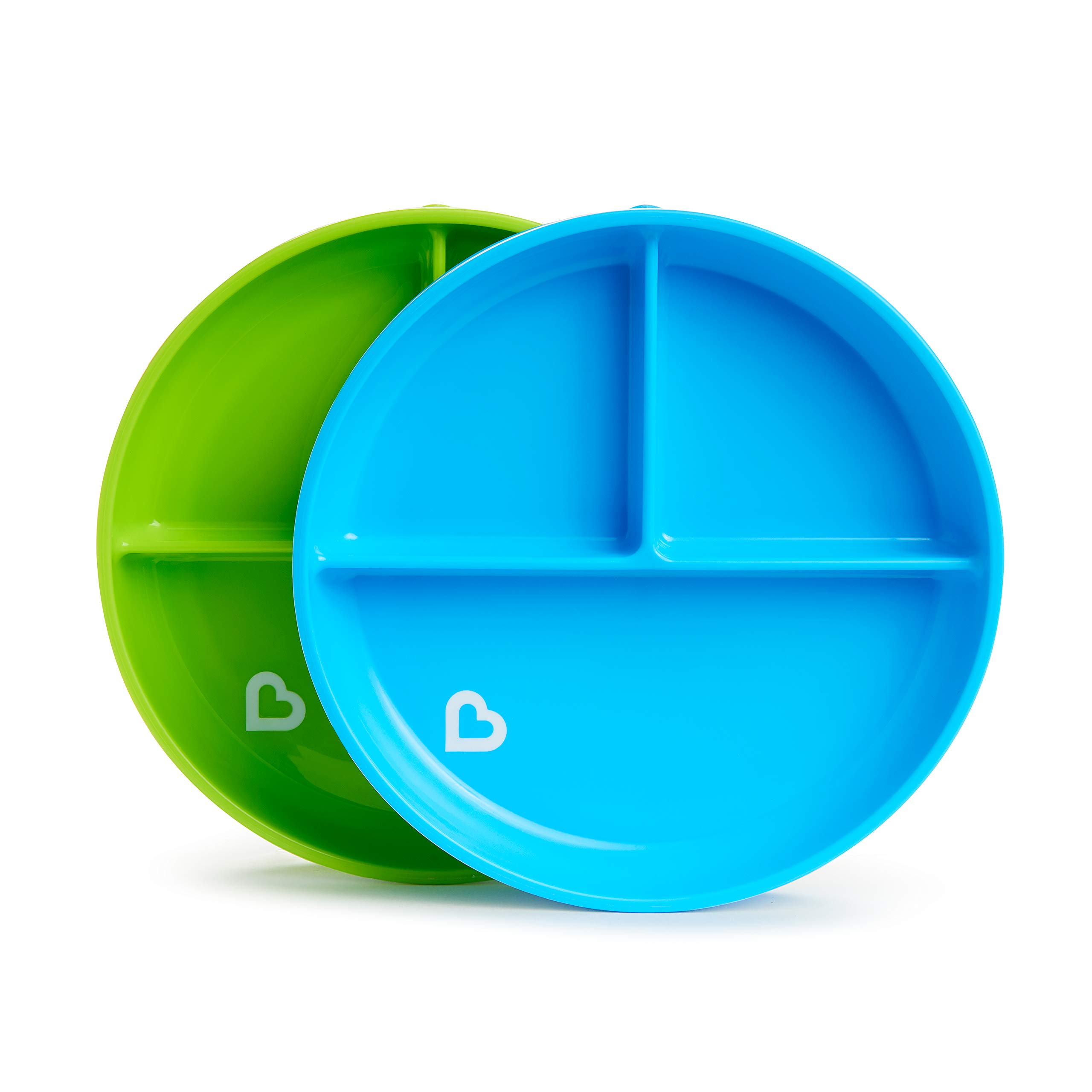Munchkin Stay Put Divided Suction Plates, Blue/Green by Munchkin
