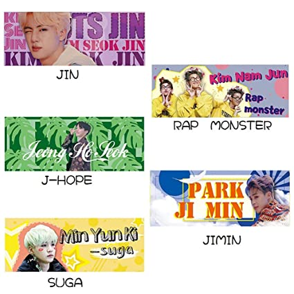 Nuofeng - BTS Bangtan Boys Fans Army Support Banner for Party Concert Flag  (5PCS)