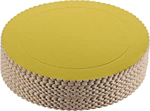 ZEONHAK 20 Pack 10 Inches Cake Boards, Round Cake Circles, Cake Base, Food Grade Gold Laminating Greaseproof Disposable Reusable Cardboard Cake Drum Pizza Tart Tray