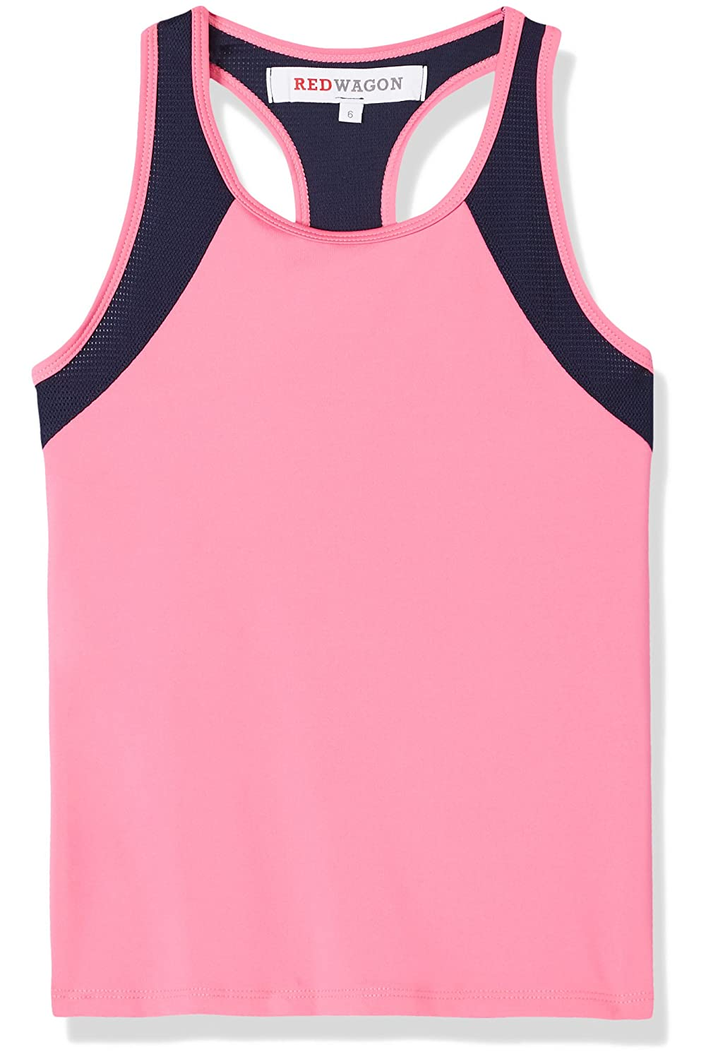 RED WAGON Girl's Contrast Colour Mesh Sports Vest SFP1-G1