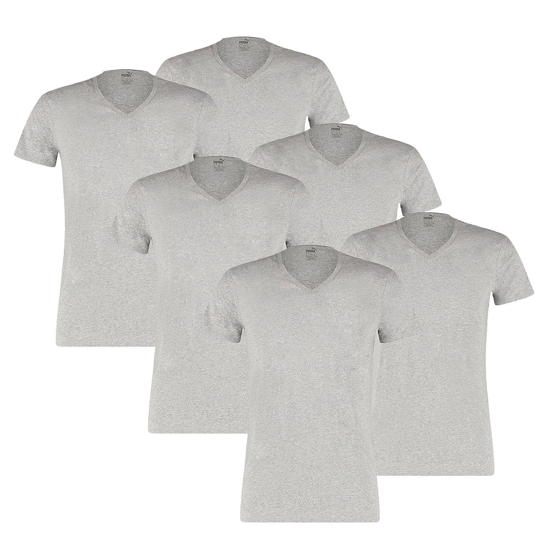 Puma Men's Basic Shirt V-Neck - 3 x 2 Shirts (Pack of 6): Amazon.co.uk:  Clothing